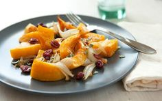 Roasted Butternut Squash with Sage and Cranberries #vegan #recipes #dinner