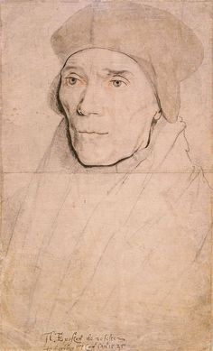 John Fisher, Bishop of Rochester. Sketch by Hans Holbein, the Younger, 1525