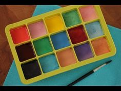 DIY Watercolor Paints (all food safe) Crafts To Do, Crafts For Kids, Arts And Crafts, Watercolour Painting, Diy Painting, Tinta Facial, Homemade Watercolors, Make Your Own, Make It Yourself
