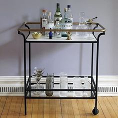 Bar Carts and Modern Dining Room Storage Bar Cart Styling, Bar Cart Decor, Modern Side Table, Modern Coffee Tables, Modern Decanters, Bar Trolley, Drinks Trolley, Modern Home Bar, Vintage Bar Carts