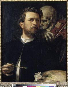 Böcklin Arnold (1827-1901) - Autoportrait avec la Mort jouant du violon - Peinture - 1872