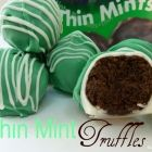 No Bake Thin Mint Truffles – only 4 ingredients! Thin Mint Truffles makes 24 1 9oz box Girl Scout Thin Mints {Or Keebler's Grasshopper Cookies!} 4 oz fat free cream cheese, slightly softened 8 oz Guittard's green mint chips * 8 oz white chocolate chips or white chocolate bark   Read more http://www.pincookie.com/no-bake-thin-mint-truffles-only-4-ingredients/