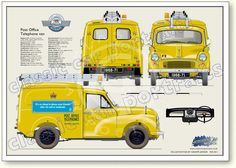 Morris Minor, Car Prints, Car Advertising, Ads, Van Car, Road Transport, Classic Mercedes, Vintage Vans, Old Cars