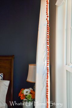 How to Make Curtains from Flat Sheet - Pom Pom Curtain