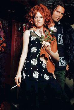 Jim Morrison and Pamela Courson via Feyza Benekli