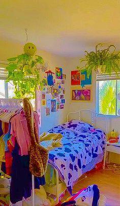 Indie Bedroom, Indie Room Decor, Cute Room Decor, Aesthetic Room Decor, Room Design Bedroom, Room Ideas Bedroom, Bedroom Decor, Chambre Indie, Estilo Indie