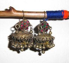 Old Kuchi Gypsy Tribal Dangle Dome Earrings C by BirgissBellywear, £14.00