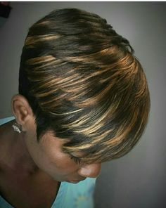 Go to the webpage to see more on Black hairstyles tutorial Short Sassy Hair, Cute Hairstyles For Short Hair, My Hairstyle, Short Hair Cuts, Curly Hair Styles, Natural Hair Styles, Short Hair Weaves, Black Hairstyles, Short Pixie