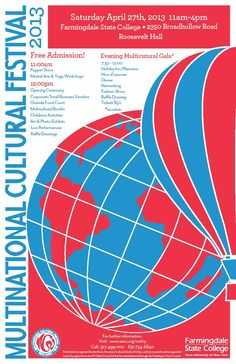 2013 - Multinational Cultural Festival, store front flyer