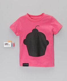 This Fuchsia Cupcake Chalkboard Tee - Toddler & Kids is perfect! #zulilyfinds