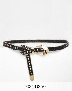 Reclaimed Vintage Western Studded Boyfriend Belt