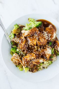 When you're busy, there is absolutely nothing better than a slow cooker for a great meal with minimal work. Delicious sesame garlic chicken!