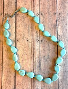 Turquoise stone necklace found at www.piececlothingboutique.com