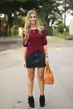 look-da-onca-sueter-tricor-bordo-tricot-burgundy-saia-ziper-frontal-mixed-bota-franjas-luiza-barcelos-bolsa-hermes-inspired