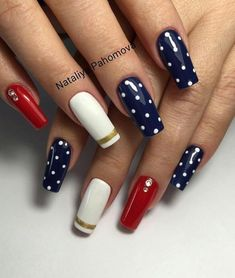 Best Nail Designs of 2019 – Latest Nail Art Trends – 28 These nail designs will be your indispensable. Stamp this summer with the latest trend nail designs. these great nail designs will perfect you. Mickey Nails, Work Nails, Gellux Nails, Golden Nails, Simple Acrylic Nails, Latest Nail Art, Polka Dot Nails, Ballerina Nails, Pretty Nail Art