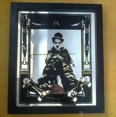 bonito Espejo Charles Chaplin