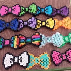 Hello Kitty Perler Bead Bow