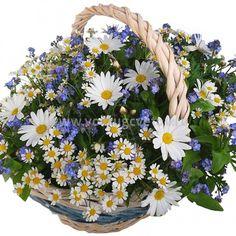 Корзина из цветов «Полевые цветы»