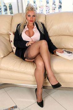 Milf crossed legs stockings speaking, try
