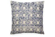 Draper 20x20 Linen Pillow, Navy
