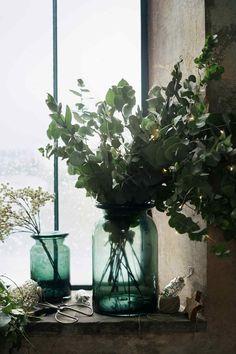 Skleněná váza - Tmavě zelená - HOME | H&M CZ