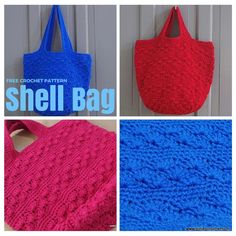 Free Crochet Pattern : Shell Bag, a boho bag great for beginner's. It has photo tutorial in each steps to guide you.