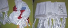 Xale para cama com dossel. Conjunto de 4 peças em voal craqueado branco com fitas de amarração, barrado e 4 laços em cetim branco. Decorative fly.