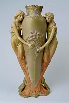 Austrian-Art-Nouveau-vase-397x596...The Lovely Ladies On This Vase Are Beautiful...
