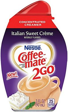 Coffee-mate Italian Sweet Creme Concentrated Liquid Coffee Creamer, 3 Ounce: Your coffee will never be the same again. One taste of the rich, indulgent creaminess of COFFEE-MATE Italian Sweet Creme will have you swooning with amore. Nestle Chocolate, Homemade Coffee Creamer, School Pencil Case, Italian Coffee, Lactose Free, Cream Recipes, Drinking Tea, Coffee Drinks, Gourmet Recipes