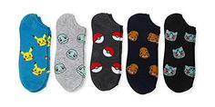 Pokemon Men's 5 pack no show socks Size Pokemon Men's 5 pk no show socks Fits Men's sock size Fits Men's shoe size Machine Washable No Show Socks, Classic Man, Pokemon Go, Boys Shoes, Big Boys, Mens Fitness, Diy Fashion, Packing, This Or That Questions