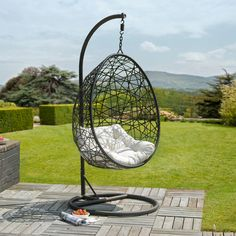 Ritiro Rattan Egg Chair -http://www.gardensandhomesdirect.co.uk/ritiro-rattan-egg-chair.html finding it hard to find a hanging chair online - this isn't bad although would only use without the stand - they're just not the same if not hanging!