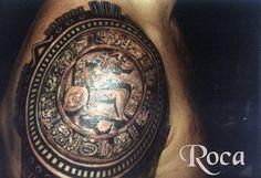 JUEGO DE LA PELOTA MAYA , BRAZO by roca tattoo studio, via Flickr