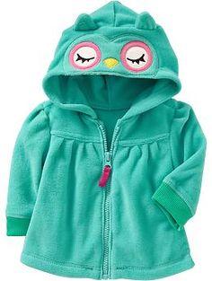 Critter Zip-Hoodies for Baby Pinned by www.myowlbarn.com