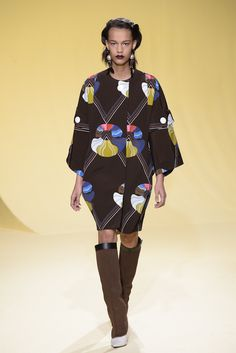 Milan Fashion Week 2016 Fall Trend: Graphic color #MFW | Marni RTW [Photo: Giovanni Giannoni]