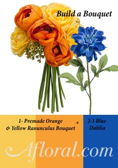 Easy DIY Bouquet Ideas, build a bouquet using a pre-made bouquet and adding stems #afloral #fauxflowers
