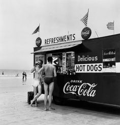 Refreshment Stand, Daytona Beach, FL. 1954, by Berenice Abbott