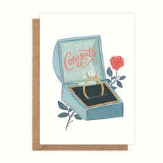 Congrats On Your Wedding, Congrats On Your Engagement, Engagement Cards, Engagement Greetings, Wedding Greetings, Irish Greetings, Greeting Cards Handmade, Illustration, Dublin Ireland