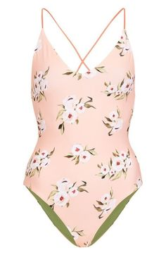 Topshop Posie Reversible One-Piece Swimsuit available at #Nordstrom