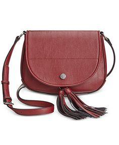 c5e8abfdb Calvin Klein Tassel Detail Saddle Bag - $64 with 25 percent off Crossbody &  Messenger Bags