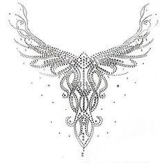 Rhinestone-Hot-fix-Motif-crystal-Fashion-Design-pattern-beautiful-neck-line