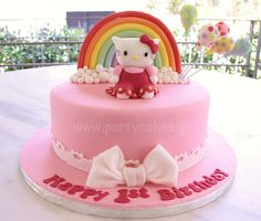 Hello Kitty Rainbow Cake by Party Cakes By Samantha, via Flickr