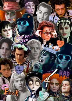 requested: johnny depp + tim burton characters