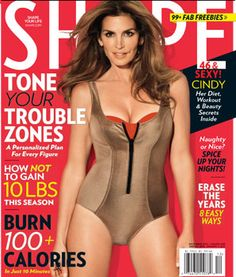 Ageless Cindy Crawford Wows on #SHAPE Magazine Dec 2012 Cover