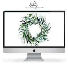 Free Desktop Wallpaper | lark & linen Free Desktop Wallpaper, Mobile Wallpaper, Olive Wreath, Dress Your Tech, Christmas Decorations, Holiday Decor, Free Prints, Printable Invitations, Christmas Inspiration
