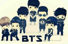 bts chibi just one day - Buscar con Google