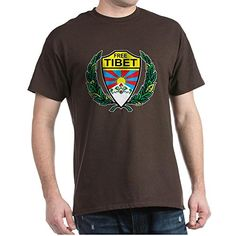CafePress  Stylized Free Tibet  100 Cotton TShirt Crew Neck Soft and Comfortable Classic Tee with Unique Design ** You can get additional details at the image link.