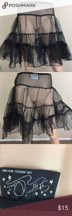 Vintage steppin out black petticoat skirt Great condition Vintage Skirts