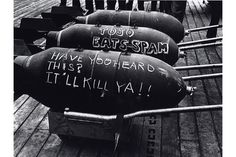 John Florea, Torpedos on the Deck of a Ship During the Tarawa Battle, 1943 http://artdaily.com/news/82586/Steven-Kasher-Gallery-celebrates-the-70th-anniversary-of-the-end-of-World-War-II-with-exhibition#.VjcBDNIvfGg
