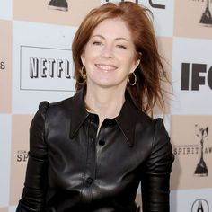 Celebrities In Leather: Dana Delany in leather dress