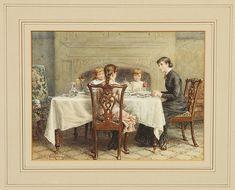 George Goodwin Kilburne (English, 1839-1924) Genre scene
